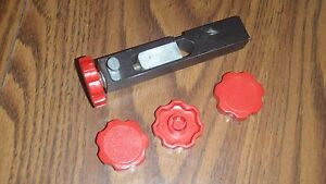 Four RED knobs for Dillon powder bars; SDB RL550 XL650 1050; Made in the USA!
