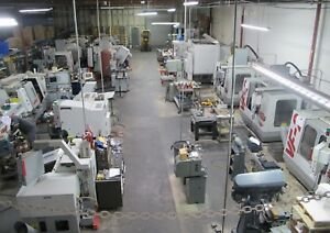 Complete Cnc Machine Shop For Sale Haas Vf2 Vfoe Vmc Mills Lathes Bridgeport