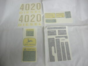 John Deere 4020 Diesel Decal Set Premium Vinyl Cut New Free Shipping