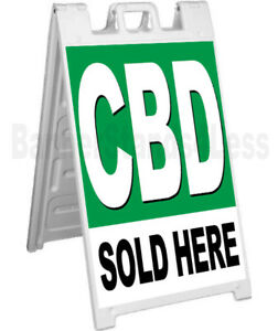 Cbd Sold Here A frame Sign Signicade Sidewalk Pavement Banner Street Sign Gb