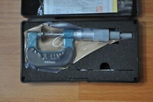 Mitutoyo Disc Micrometer 0 1 Inch Model169 203 Non rotating Spindle