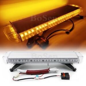 56w 30 Roof Light Bar Led Amber Strobe Emergency Beacon Auto Truck Warn Yellow