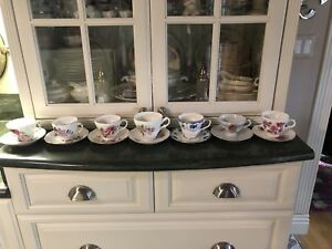 Antique Tea Cup Saucer Collection Lot Of 7