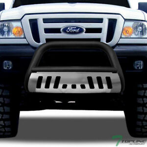 Topline For 1998 2011 Ford Ranger Classic Bull Bar Grille Guard Matte Blk skid