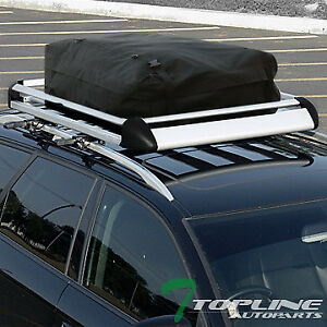 50 Silver Aluminum Roof Rack Basket Car Top Cargo Baggage Tray carrier Bag T08