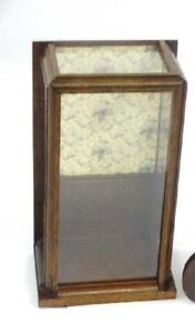 Vintage Mahogany Wood Glass Counter Display Case