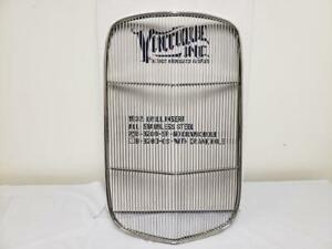 1932 Ford Car Stainless Steel Grille Insert No Crank Hole Vintique B 8200 sr