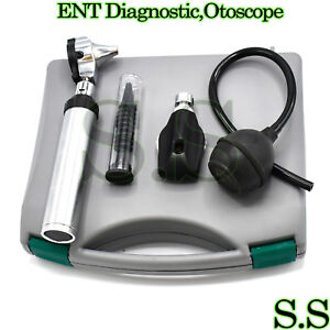 new Ent Diagnostic otoscope ophthalmoscope Set With Insufflator Bulb Nt 527
