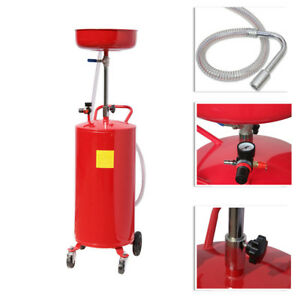20 Gallons Portable Waste Oil Drain Lift Drainer Tools Red