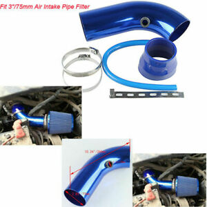 3 Cold Air Intake Induction Pipe Filter Tube System Blue Hose Kit For Ford Suba