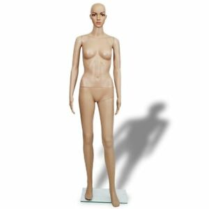 Full Body Mannequin Women Dress Form Display Rotatable Arms Metal Stand 161cm
