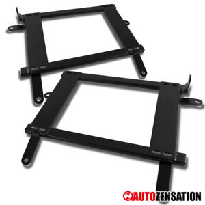 For 2002 2006 Lancer Evo 7 8 Ct9a Black Racing Seat Mounting Brackets Rail Track