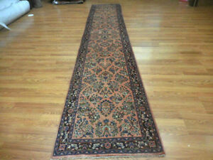 Ca1930s Veg Dye Antique Lilihan Mallayer Sarouk 2 7x14 Estate Sale Rug