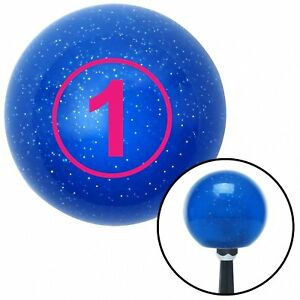 Pink Ball 1 Blue Metal Flake Shift Knob With 16mm X 1 5 Insert Gear Cal Customs