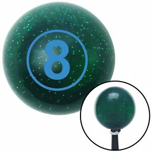 Blue Ball 8 Green Metal Flake Shift Knob With 16mm X 1 5 Insert Big Dog Racing