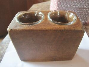 Salem Treenware Reproduction Wood Look Resin Sugar Mold Votive Holder Candle New