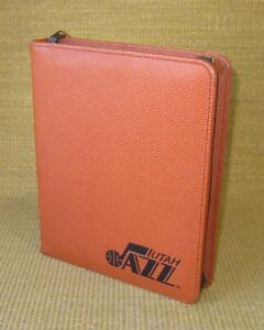 Classic 1 5 Rings Orange Basketball Leather Nba Game Planner binder Franklin