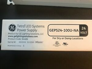 Ge Tetra Led Systems Geps24 100u Power Supply 100w 24vdc 3 Total