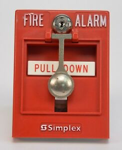 Simplex 4099 9002 Fire Alarm Addressable Pull Station 630 574