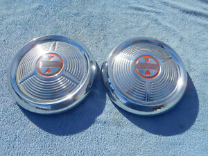 1958 Oldsmobile Dog Dish Hubcaps Super 88 98 Dynamic Holiday