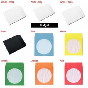 Paper Cd dvd Sleeves With Window Flap