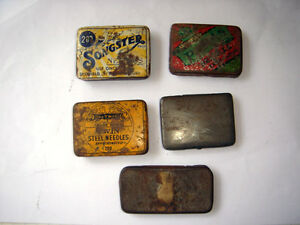 India Old Gramophone Empty Tin Needles Box 4 1 Other 5 In 1 Lot