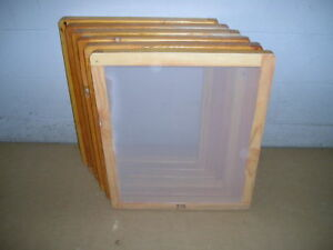 Screen Printing Frames box Of 6 14 X 17 re claimed Wood With 110 White Mesh