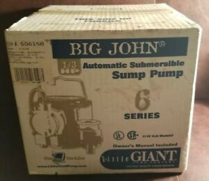Little Giant 6 Series 6 cia 1 3 Hp Integral Diaphragm Submersible Sump Pump New