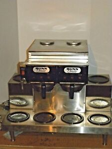 Tested Bunn Commercial Coffee Brewer H2o Line 6 Warmer Dual 2 Brew Heads Hoth2o