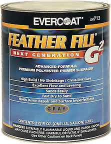 Evercoat Feather Fill G2 Polyester Primer Surfacer gray Gallon Fib 713