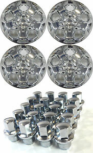 4 2011 Ford Fusion 17 Chrome Hubcaps With Twenty 20 Locking Lugnuts