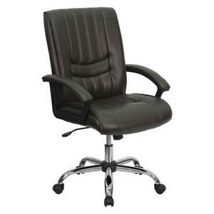 Executive Chair brown Seat leather Back Bt 9076 brn gg