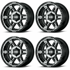 Set 4 20 Xd Series Spy 2 Xd840 20x10 6x5 5 18mm Black Machined Truck Wheels