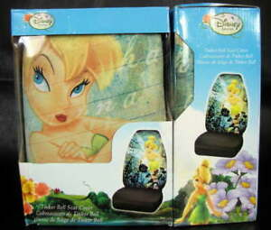Set Of Two 2 Disney Fairies Tinker Bell Washable Auto Seat Covers 006912