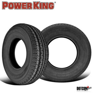 2 X New Power King Towmax Str Ii 205 75 15 107l Special Trailer Service Tire