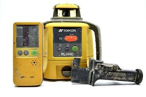 Topcon Rl h4c Self leveling Slope Rotary Laser Level W ls 80l Receiver 10 b1197a