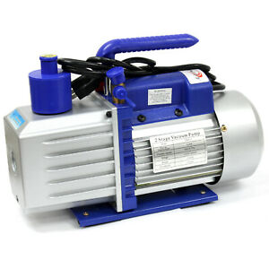 Two Stage 7 Cfm 3 4 Hp Rotary Vane Deep Vacuum Pump 110v 60hz Hvac Ac Tool