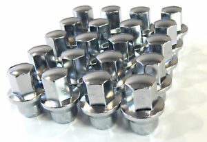20 Chrome Lug Nuts 2011 Ford Fusion 12x1 5 3 4 Hex W Flange For Hubcaps