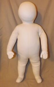 White Cloth Child baby Posable bendable Mannequin Size 3 6 Month 25 Inch