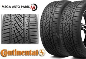 2 New Continental Extremecontact Dws06 225 50zr17 94w Tires