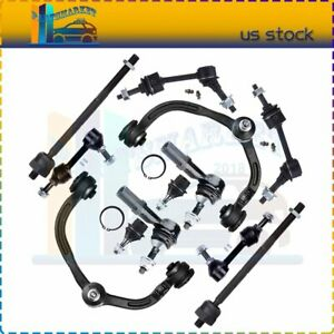 Suspension 12 X Front Rear Upper Control Arm Tie Rod Kit Fits Ford Expedition