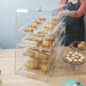 4 Tray Bakery Display Case With Front And Rear Doors 24 X 14 X 24