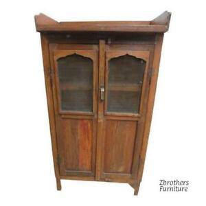 Antique Architectural Salvage Primitive Hutch China Cabinet Cupboard M F