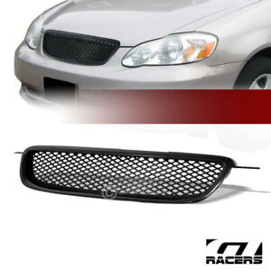 For 2003 2004 Corolla Jdm Blk Tr D Sport Mesh Front Hood Bumper Grill Grille Abs