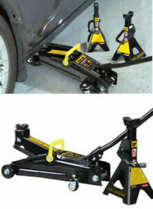 Torin 2 Ton Hydraulic Jack W carrying Case Two 2 Ton Jackstands