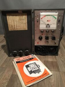 B k Model 440 Crt Tester Rejuvenator With Instructions And Ge Chart