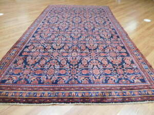 C1930 Antique Persian Mohajeran Ferahan Mallayer Sarouk 6x10 Estate Sale Rug