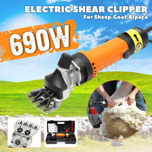 690w Sheep Goat Shears Clippers Electric Animal Shave Grooming Farm Supplies Us