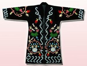 Beautiful Uzbek Silk Embroidered Robe Chapan In Ottoman Style A3626