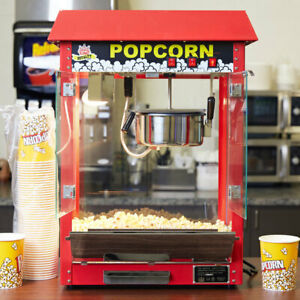 Carnival King Pm30r Royalty Series 8 Oz Red Commercial Popcorn Machine